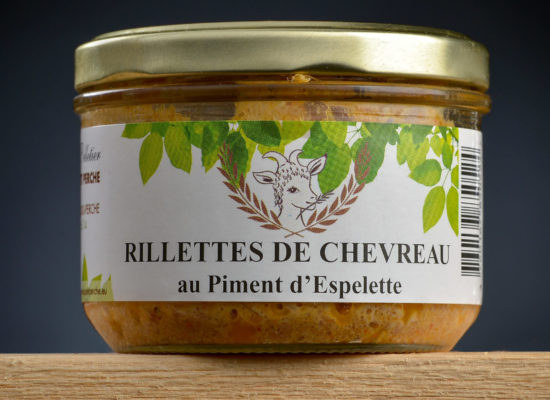 Rillettes de chevreau piment Espelette